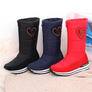 Image 3 - MORAZORA 2020 جديد جلد البقر الثلوج أحذية النساء أسافين الأحذية منصة مقاوم للماء سميكة الفراء الدافئة الشتاء أحذية السيدات نصف بوتاس