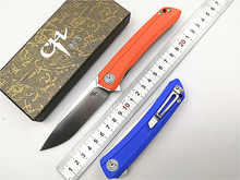 Couteau pliant de marque CH 3002 G10 lame D2 manche G10 poche, roulement à billes utilitaire, pour le Camping en plein air, couteau tactique à main