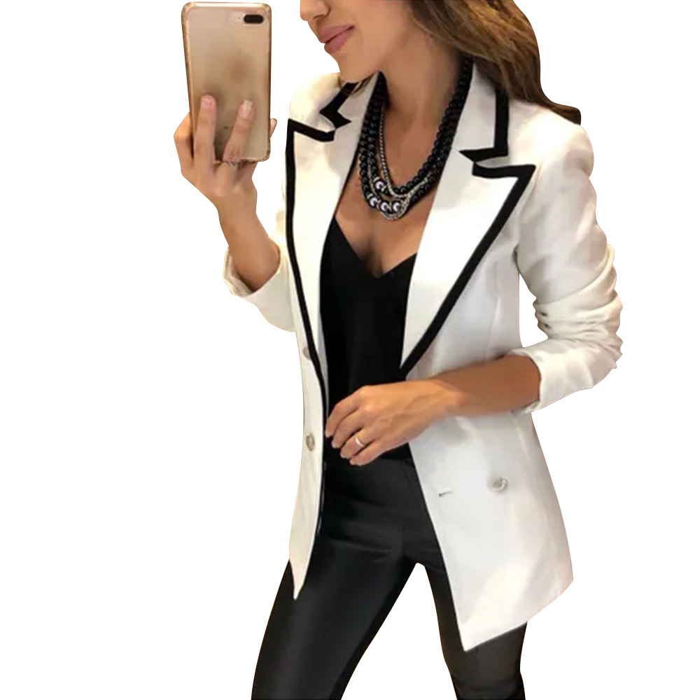 Elegant Single Breasted Women Blazer Jackets Solid Colour Slim Bussiness Blazer Office Lady Blazers Coats blaser feminino D30