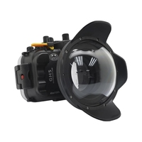 40m 130ft Waterproof Underwater Housing Camera Diving Case Cover Box for Panasonnic GH5 with Dome Port and 67mm Red Filter
