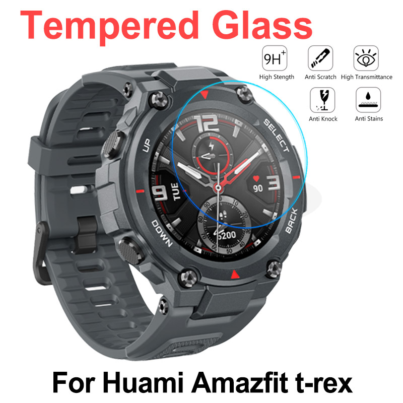 For 2020 Huami Amazfit T-Rex Tempered Glass 9H Protective Screen Protector For Amazfit T Rex Smart Watch Accessories