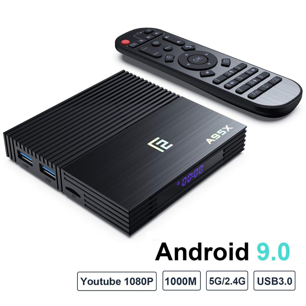 Image 2 - A95X F2 4K Smart TV Box Android 9.0 Box TV 4GB 64GB Amlogic S905X2 2.4G/5G Wifi BT4.2 Voice Control Remote Google TV PK Mi Box-in Set-top Boxes from Consumer Electronics