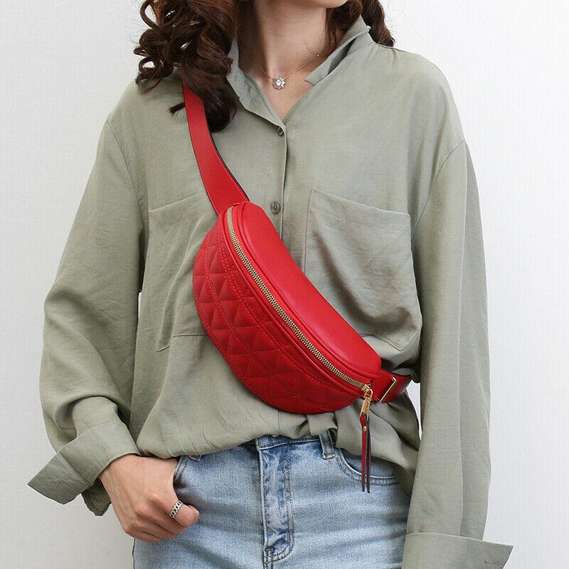 Women Casual Girls PU Waist Fanny Pack Belt Bag 2020 Newest Fashion Pouch Corssbody Waist Packs