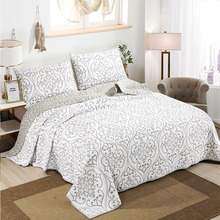 CHAUSUB Cotton BedspreadS Quilt Set 3PCS Embroidered Quilts Advanced Quilted Bed Cover Pillowcase King Queen Size Coverlet chausub cotton bedspreads quilt set 3pcs embroidered quilts advanced quilted bed cover pillowcase king queen size coverlet
