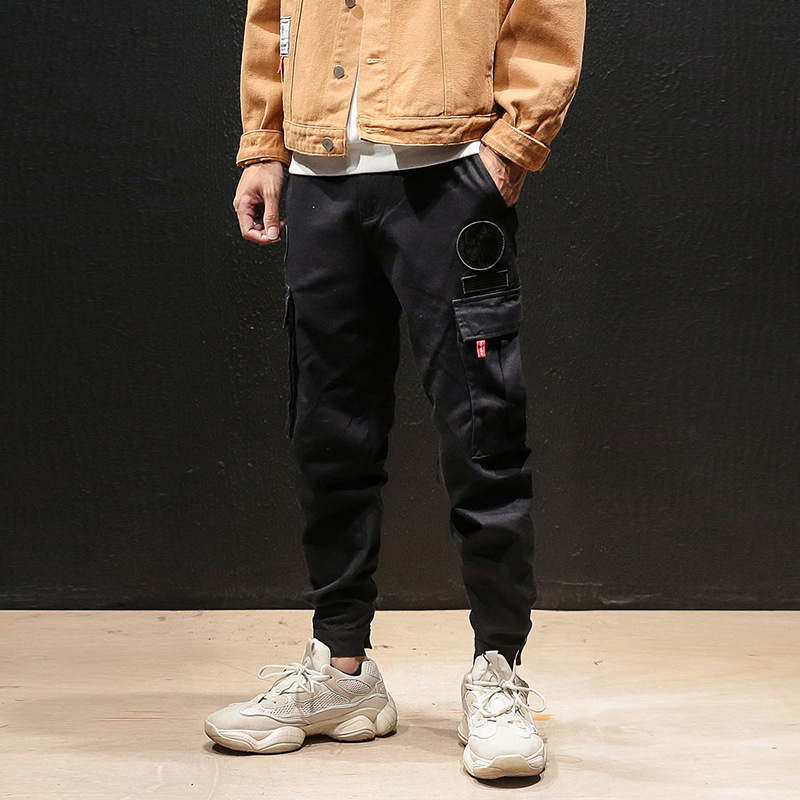 2018 Autumn And Winter New Style Japanese-style Bib Overall Men's Loose-Fit Skinny Harem Pants Fashion Teenager Large Size Casua