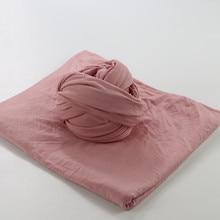 Mix Color 2pcs/lot 80*50cm Stretch Knit Modal Cotton Newborn Baby Wraps Swaddle infant photos for Newborn Photography Props