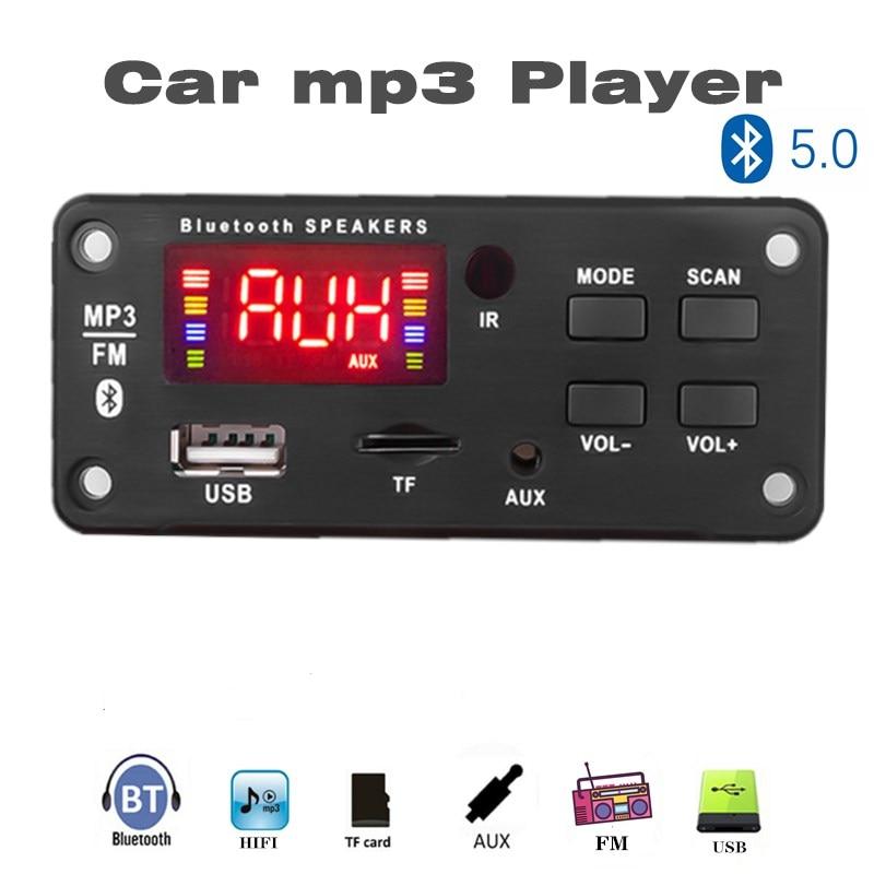 3.5mm AUX 12V Bluetooth 5.0 WAV Mp3 Player Decoding Board FM Radio Module Wireless Audio Receiver 3.5mm TF Card For Toyota