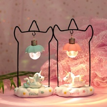 Ins Romantic Unicorn Led Lamp Baby Night Light Cute Cradle Night Lamp Christmas New Year Kids Gift Toy For Home Decoration led unicorn light moon lamp night light luminaria romantic night lamp 3d lamp christmas baby kids gift toy bedroom decoration
