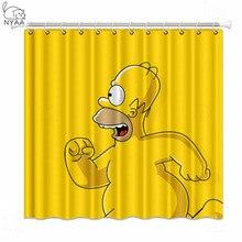 NYAA Simpsons duş perdeleri su geçirmez Polyester kumaş banyo perdeleri ev dekor için