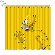NYAA The Simpsons Shower Curtains  Waterproof Polyester Fabric Bathroom Curtains For Home Decor