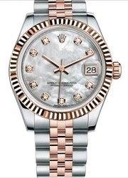 Luxe Merk Nieuwe Rvs Sapphire Horloge Vrouwen Lady Automatische Mechanische Diamant Zilver Goud Wit Datejust 36mm