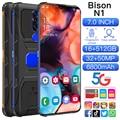 Ударопрочный смартфон Bison N1, 7,0 дюйма, Android 11, Qualcomm 888, 16 ГБ, 512 ГБ, две SIM-карты, 6800 мАч, многоязычный прочный сотовый телефон