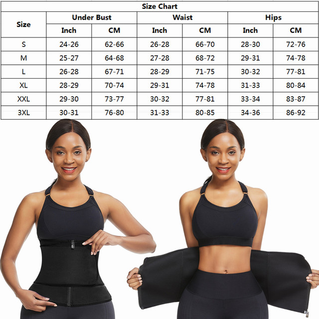 Feelingirl Neoprene  Waist Trainer Body Shaper Modeling Strap Sauna Shaper Butt Lifter Fitness Corset Sweat Slimming Belt 5