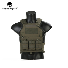 emersongear Emerson 419 Tactical Vest Plate Carrier Body Armor Airsoft Paintball Training CS Protective Gear Ranger Green RG