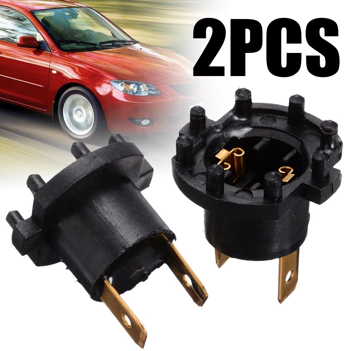 2pcs Headlight Bulb Black Color Socket Holder For Kawasaki ER6-F 2012/2015 For Mazda 3/5/323 Lamp Holder Accessories