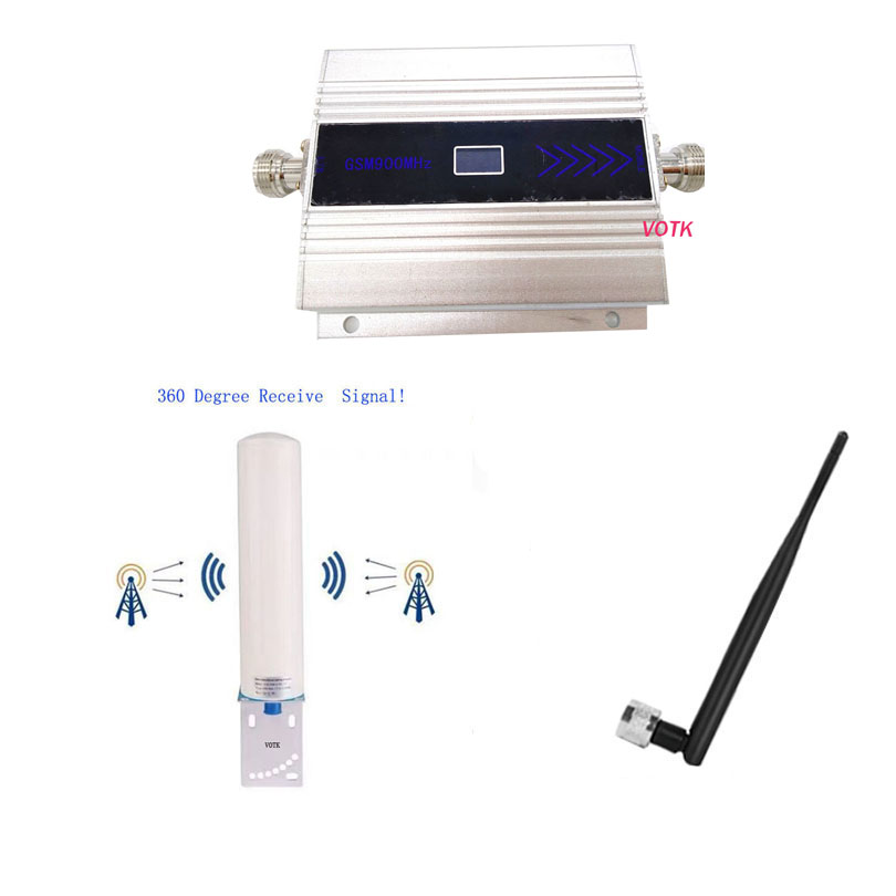 2G 3g Mobile GSM Signal Booster 900mhz Signal Repeater GSM  Cell Phone Signal Amplifier With 12dbi Omni Antenna