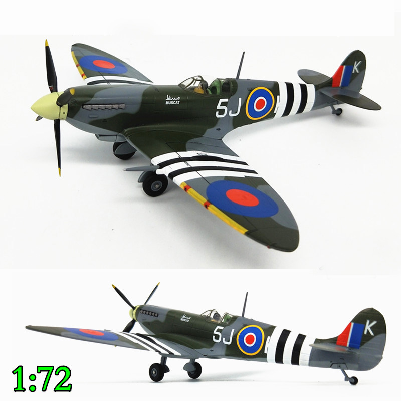 Fine  1:72  World War II British MK.IXc NO.126TH Squadron 1944  Finished Product  Alloy Aircraft Model  Collection