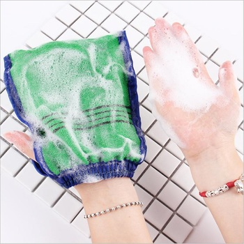 1pc Shower Spa Exfoliator Two-Sided Bath Glove Body Cleaning Skin Bath Massage Sponge Scrub Mitt Rub Dead Skin Removal Peeling недорого