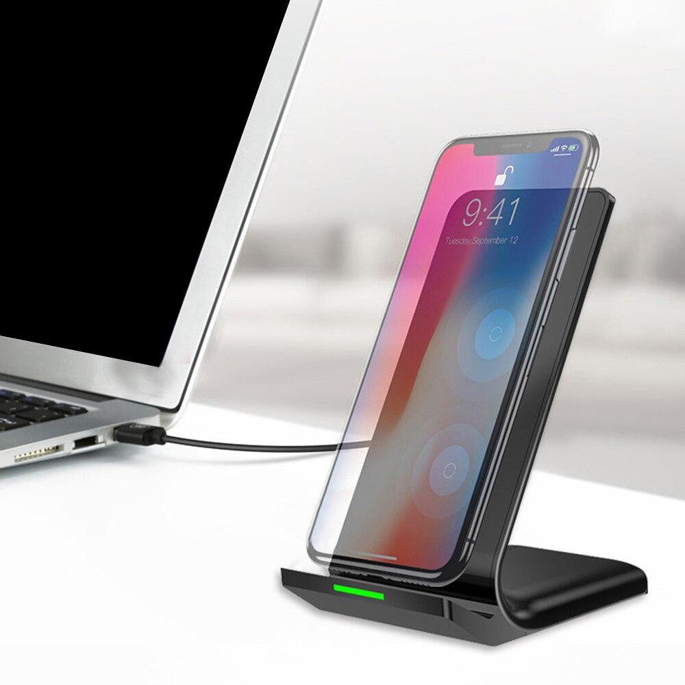 Cargador Rápido Original Qi inalámbrico carga rápida Soporte Para Samsung S8 iPhone X 8