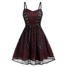 Женское готическое черное платье размера плюс, кружевное Сетчатое лоскутное платье без рукавов на Хэллоуин, вечерние платья, повседневные женские элегантные платья