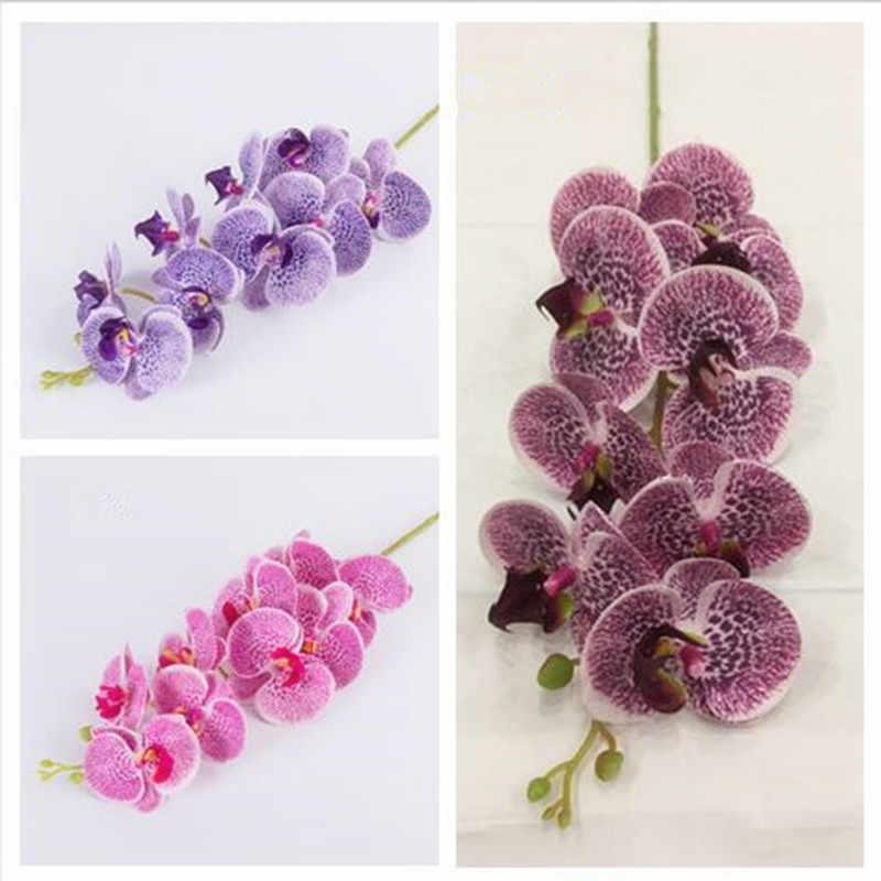 Een kunstmatige Phalaenopsis orchidee bloemen real touch latex hoge kwaliteit vlinder orchideeën stem plant siliconen bloemen