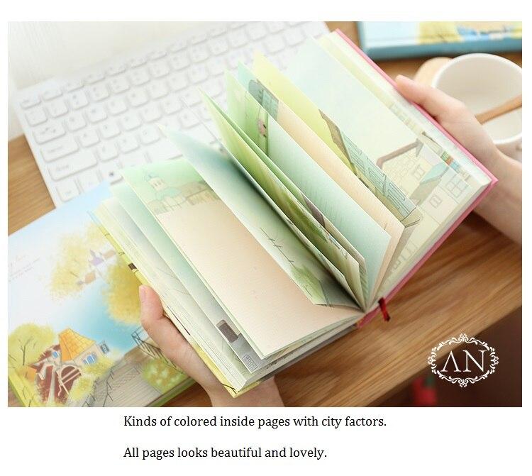 Image 3 - Caderno colorido coreano kawaii, estudantes escrevendo bloco de  notas, planejador de desenho scrapbooking livro grossoCadernos   -