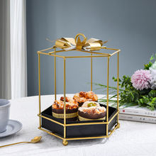 Креативные цветочные горшки металлические поделки с золотым