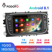Podofo Android 8.1 Autoradio 2 Din 2 + 32G GPS Car Multimedia Player Per Ford/Focus EXI MT 2 3 Mk2/Mk3/S-Max/Mondeo 9/Galaxy C-Max(China)