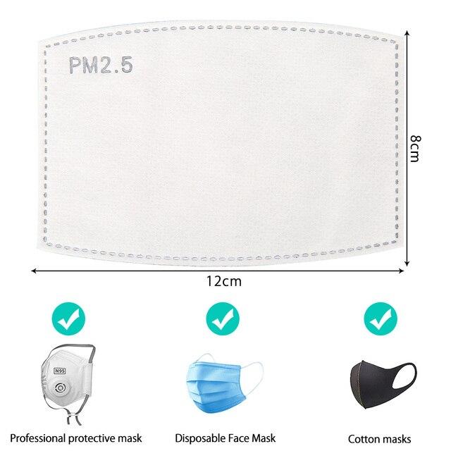 10-100 PCS PM2.5 Filter Paper Anti Haze Mouth Face Mask Flu Facial Anti Pm 25 Dust Masks Activated Carbon 5