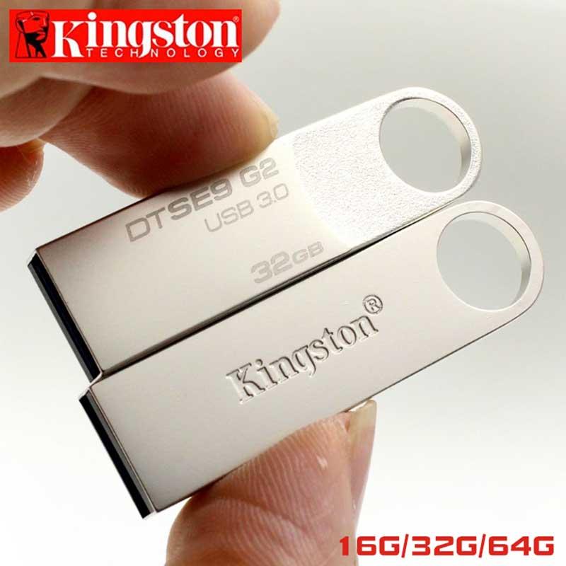 Kingston USB Flash Drive Pendrive 64GB GB 16 32GB Memoria Cle USB 3.0 De Metal Pen drive de Memória U Vara Flash Drive Pendrives U Disk