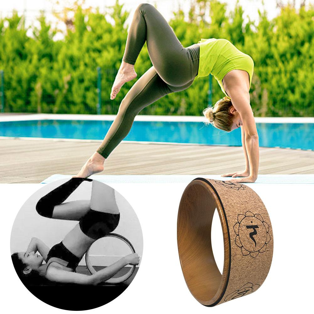 Multi função Yoga Prop Círculo Roda Rodas