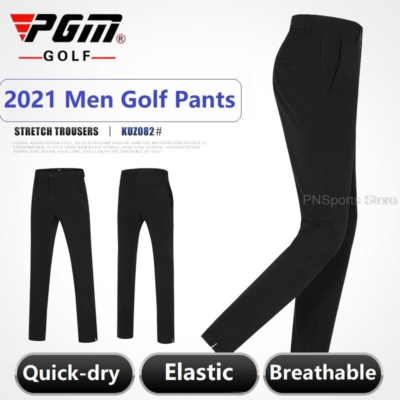 Men Golf Pants Male Sportswear Ultra Thin Tee Pocket Long Pant Men Golf/Tennis Run Slim Trousers Dry Fit Breathble Trousers