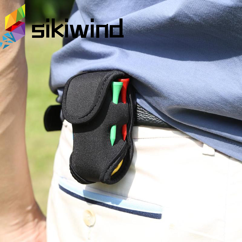 Super Elastic Mini Portable Golf Ball Holder Small Bag SBR Neoprene Waist Pack Storage Aid Tool Golf Accessories Z70