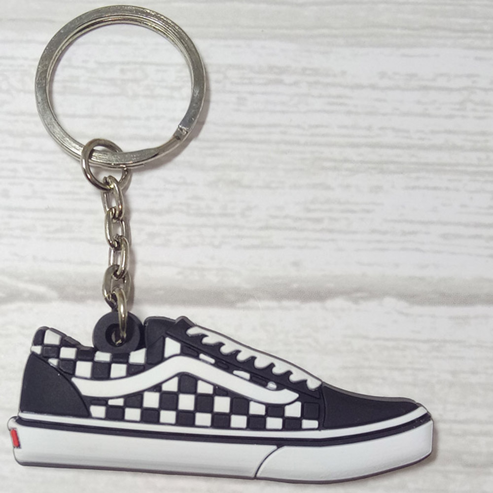 10 PCS Wholesale Mini Silicone Shoes Keychain Bag Charm Key Ring Gift Sneaker Key Holder Pendant Accessories Shoes Key Chain