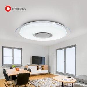 Image 5 - Offdarks nowoczesne oświetlenie sufitowe LED głośnik Bluetooth z pilotem APP salon sypialnia kuchnia lampa sufitowa
