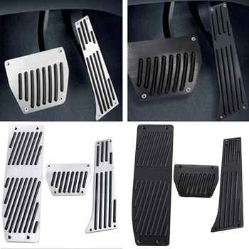 New Car Accessory Aluminum Footrest Pedal Pad Set For BMW X1 E30 E36 E46 E90 E87 E92 E93 image