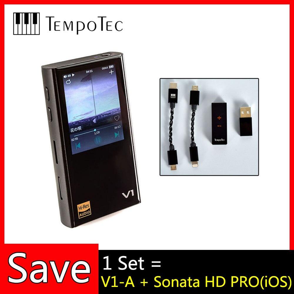 V1-A + sonate HD PRO,TempoTec,HIFI PCM & DSD 256 prise en charge du lecteur Bluetooth LDAC AAC APTX entrée et sortie USB DAC pour PC avec ASIO ak4377bce