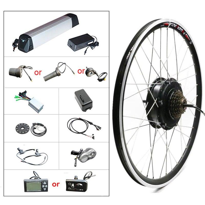 36В 500 Вт комплект для переоборудования электрического велосипеда с 12Ач батареей Samsung 20