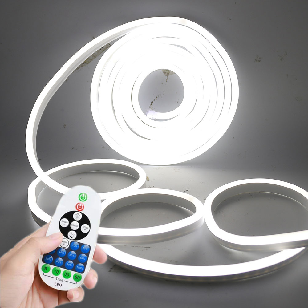 HKHJN Lampada a LED Striscia Flessibile al Neon 2835led Morbido Striscia di Luce 12V Impermeabile a LED Nastro Corda Tubo con Camera Calda Bianco Giallo Rosso Verde Blu Color : Blue, Length : 1m