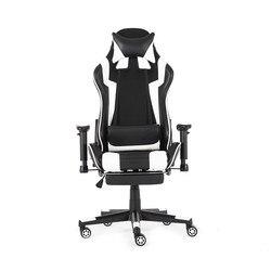 90-180 ° ゲーミング事務所人間工学椅子オフィス家具ゲームコンピュータの革リクライニングチェアフットレスト