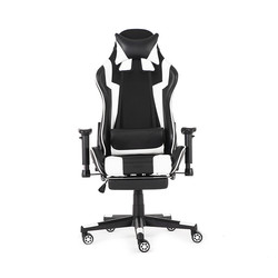 90-180° Gaming Office Ergonomic Computer Chair Office Furniture Gaming Computer Leather Reclining  Chair with Armrest Footrest