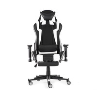 90 180° Gaming Office Ergonomic Computer Chair Office Furniture Gaming Computer Leather Reclining Chair with Armrest Footrest