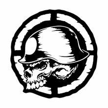 DAWASARU Lovely Skull Car Stickers Motorcycle Reflective Vinyl Decals Custom Sunscreen Waterproof Laptop Toolbox Auto 15CM*14CM 6zstickers sugar skulls reflective stickers decals waterproof sunscreen motogp x15