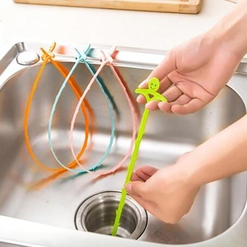 Limpiador de drenaje de tubo de baño Filtro de alcantarillado para el cabello limpiador de drenaje Filtro de fregadero de cocina filtro colador Anti atascos herramientas de eliminación
