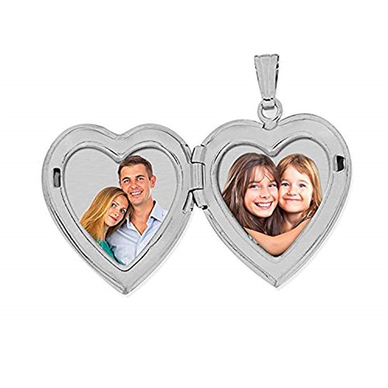 2019 New Forever in My Heart Locket Necklace Pendant  Silver - 3/4 Inch X Includes 18 inch Cable Chain