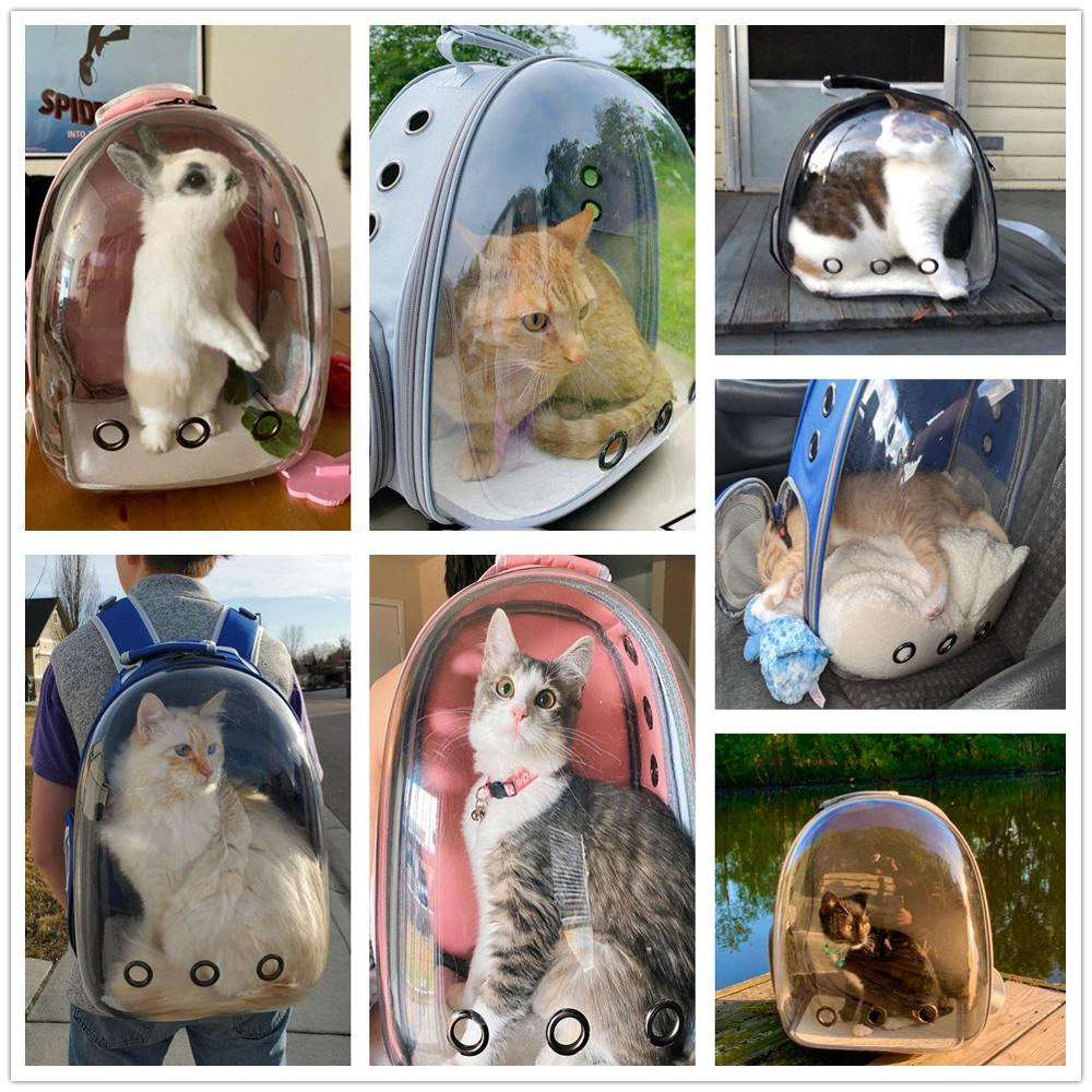 Воздухопроницаемый рюкзак для переноски кошек маленький уличный