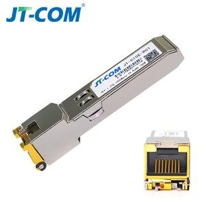 Image 5 - جيجابت RJ45 SFP وحدة 1000Mbps SFP النحاس RJ45 SFP مثبت جهاز إرسال واستقبال متوافق مع سيسكو/Mikrotik جيجابت محول ايثرنت