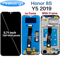 100% Tested Touch Screen For Huawei Honor 8S  LCD Display With Touch Screen Assembly For Huawei y5 2019 LCD|Mobile Phone LCD Screens| |  -