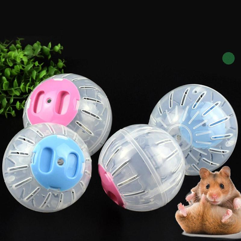 Hamster Plastic Color Cover Running Crystal Ball Transparent Fitness Sports Roller Pet Toys And Pet Products For Pet Hamsters