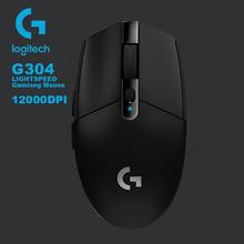 Mysz do gier Logitech G304 G102 z czujnikiem bohatera 12000DPI 6 programowalne przyciski 10X wydajność dla myszy do gier MMO MOBA cheap 2 4 ghz wireless 0 18g Opto-elektroniczny Palec Akumulator 2018 G304 LIGHTSPEED Prawo